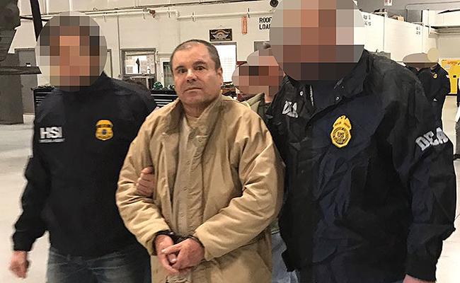 El Chapo Guzmán se declaró inocente de los cargos poco después de ser extraditado. Foto: AFP