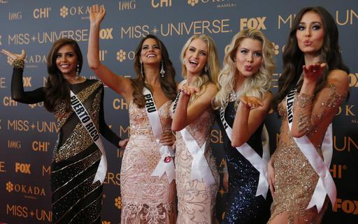 Concursantes de Miss Universo 2016 en la alfombra roja/ Foto: AP