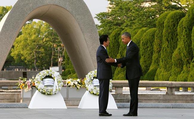 Obama visita el parque de la Paz Hiroshima. Foto: AP