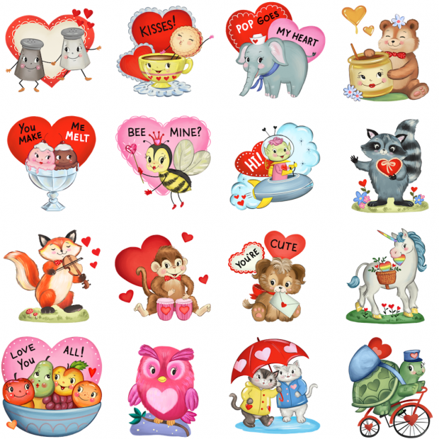 emoticones stickers de amor para perfil