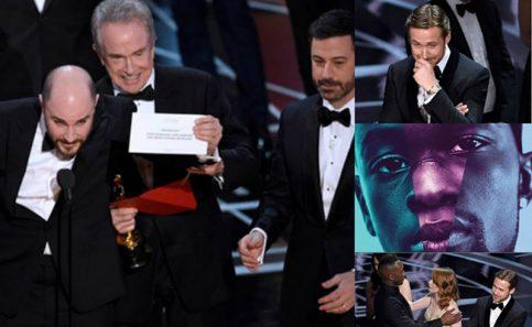 """¡Inédito! """"Y el #Oscar2017 a mejor película es para… Moonlight"""", ¡y no La La Land!"""
