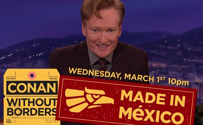 El pueblo mexicano no está muy interesado en pagar el muro: Conan O'Brien