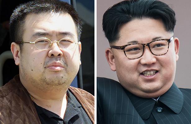 El líder Kim Jong-un y su hermanastro.