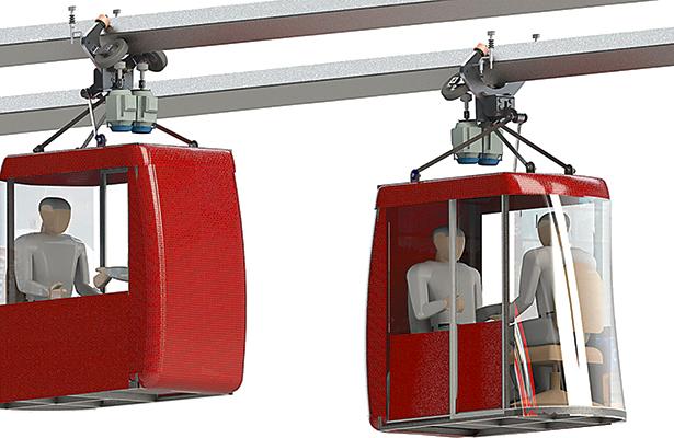Las cabinas que se planea emplear son solamente para dos personas, comodamente sentadas.