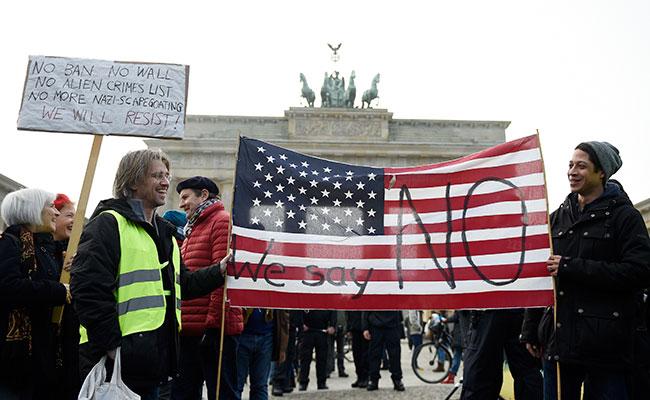 En la capital alemana igualmente hubo protestas. Foto: AP