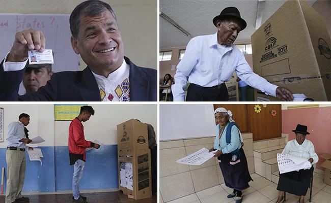 El presidente Rafael Correa llamó a los habitantes de este país a pronunciarse sobre su futuro Foto: Especial/AP