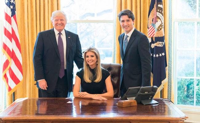 Ivanka Trump, la nueva fan de Justin Trudeau