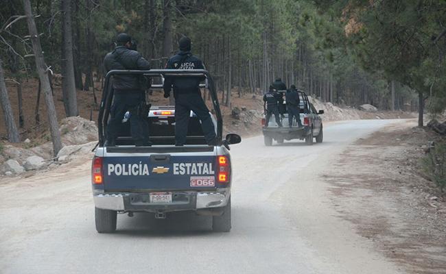 Hay presencia de elementos de la Policía Estatal Única y Ministerial en la zona serrana de Chihuahua. Foto: El Heraldo de Chihuahua