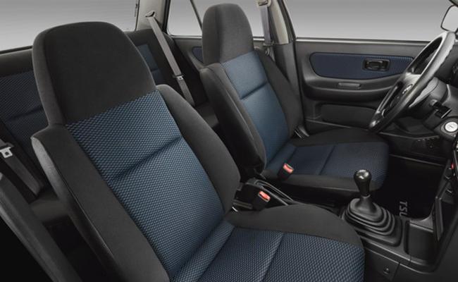 Nissan Tsuru Buen Camino cuenta con vestiduras de asientos en color gris y azul. Foto: nissannews.com