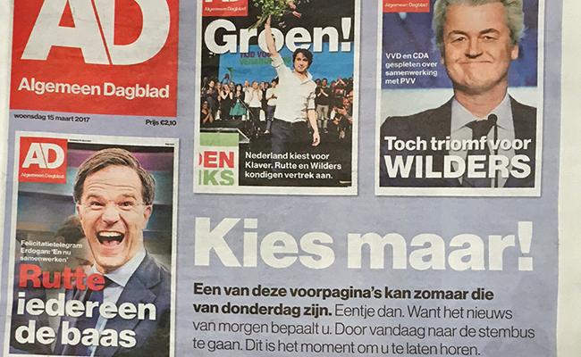 PRIMERA PÁGINA del periódico AD el día de las elecciones con el mensaje: ¡Vote! ¿Cuál de estas portadas quiere ver mañana?