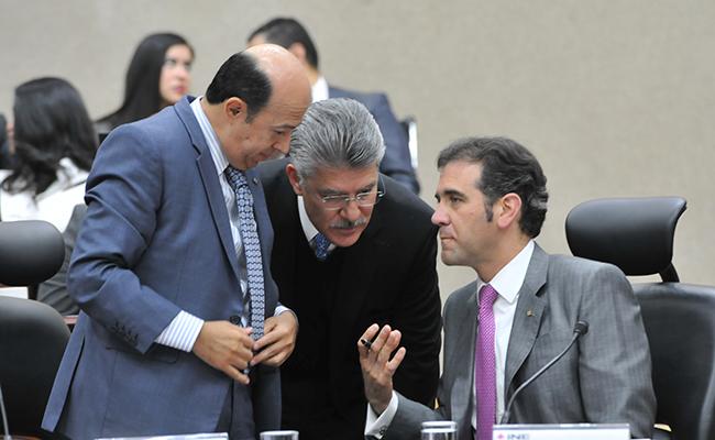 Enrique Andrade, Arturo Sánchez y Lorenzo Córdova. Foto: Daniel Hidalgo