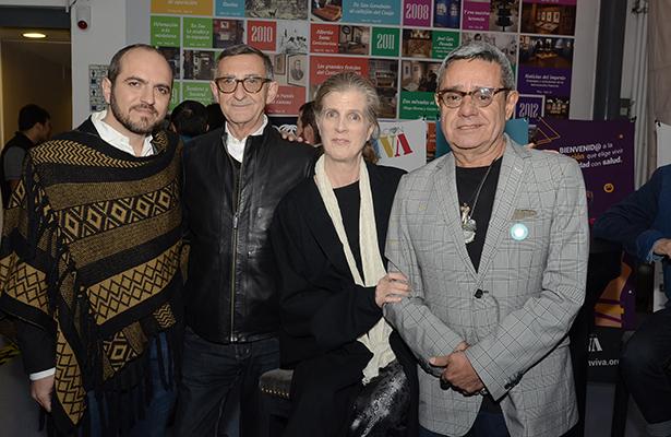 RODRIGO MOHENO, Luis Adelantado, Catrinca Wood y Charly Cordero