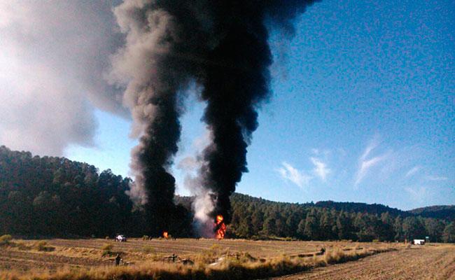 El incendio es percibido a dos kilómetros de distancia. Foto: El Sol de Tlaxcala