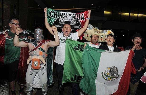 EL ánimo mexicano llegó hasta Trinidad y Tobago.