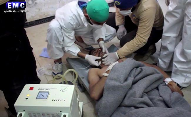 """Ataque """"químico"""" deja al menos 58 muertos en Siria. Foto: AP"""