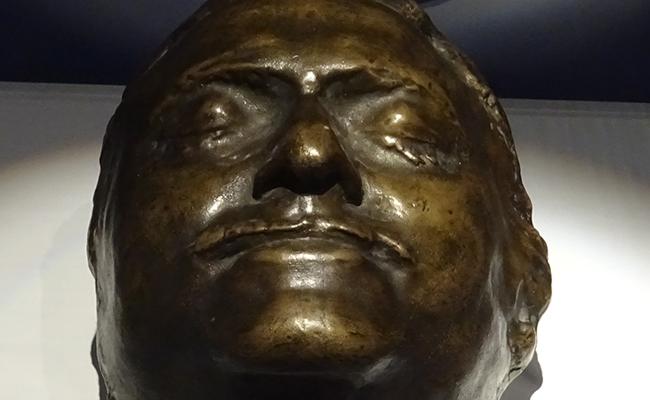 Máscara funeraria de Pedro IBK Rastrelli.