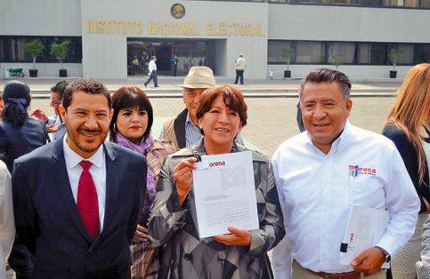 Martí Batres, Delfina Gómez y Horacio Duarte.