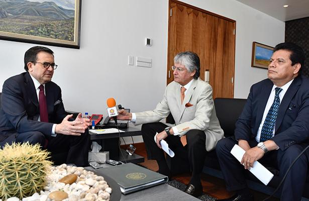 ildefonso guajardo afirmó que desde el inicio de la campaña presidencial en la Unión Americana, el TLCAN y México se pusieron en la agenda.