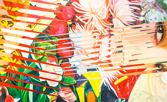 """""""Painting by James Rosenquist: Females and Flowers, 1984 (Oil"""