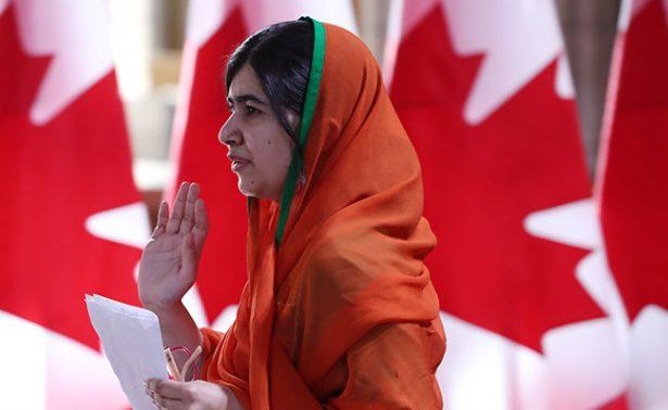 Canadá otorga a Malala Yousafzai Ciudadanía Honoraria