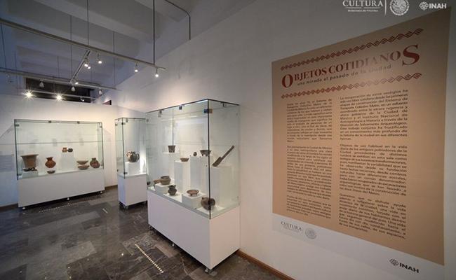 La muestra se compone de enseres cotidianos de la época prehispánica