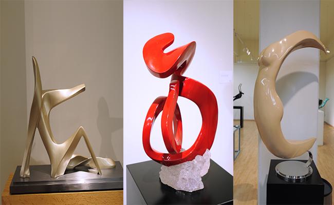 LAS ESPECTACULARES obras del artista reflejan su trabajo, dedicación y pasión por el arte.