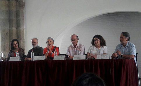MOMENTOS DE la conferencia, Juan Pablo Rulfo, Myriam Vachez, Juan Carlos Rulfo, Eugenia Montiel Pagés y Gerardo Tamez.