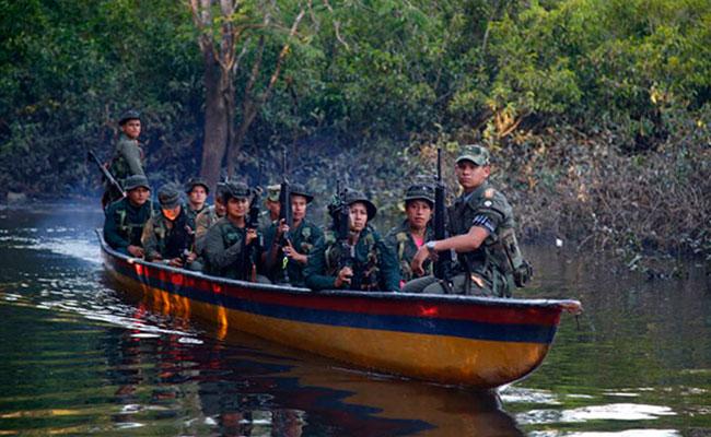 Fuerzas Armadas Revolucionarias de Colombia (FARC) Foto: AFP