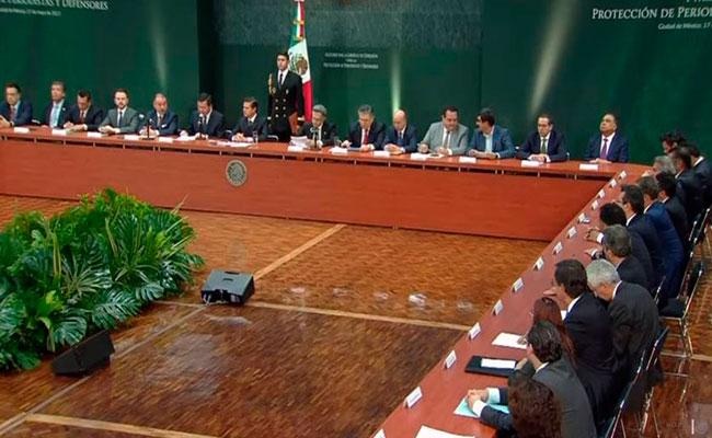 """""""Buscamos garantizar la libertad de expresión"""", señaló el Presidente al encabezar la reunión. Foto: Video"""