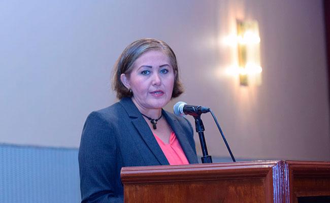 La diputada ofreció conferencia de prensa para detallar su versión de los videos difundidos donde recibe dinero para AMLO. Foto: Daniel Galeana