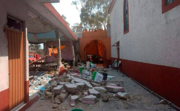 EDOMEX: Explota pirotecnia en iglesia de Almoloya; deja 11 heridos