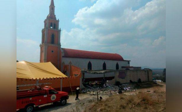 Explosión de pirotecnia en iglesia de Almoloya deja 11 heridos