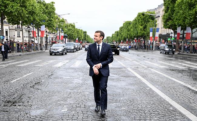 El nuevo presidente francés, Emmanuel Macron. Foto: AFP