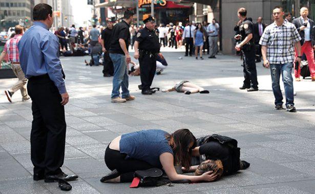 Reportan un muerto y 13 heridos por atropello múltiple en Times Square