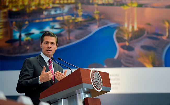 El jefe del Ejecutivo, durante el evento Impulsando la Inversión Inmobiliaria en México / Foto: Cortesía Presidencia