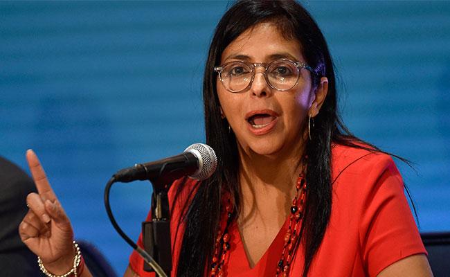 Rodríguez aseguró que la realidad es que Estados Unidos pretende la riqueza petrolera de su país, al igual que sus aliados / Foto: AFP