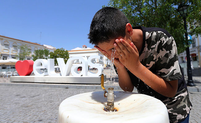 Al sur de Portugal las temperaturas superaron los 40ºC. Foto: EFE