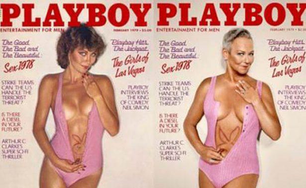 Modelos Playboy posan para recrear portadas de hace 30 años