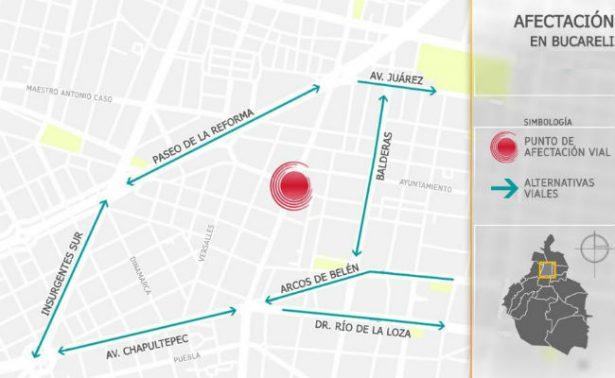 Por manifestantes, cierran circulación en Eje 1 Poniente dirección hacia Segob
