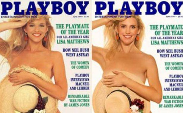 Recrean portadas de Playboy 30 años después