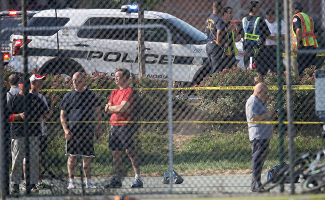 La agresión se produjo durante un entrenamiento de béisbol de miembros del Partido Republicano. Foto: AFP