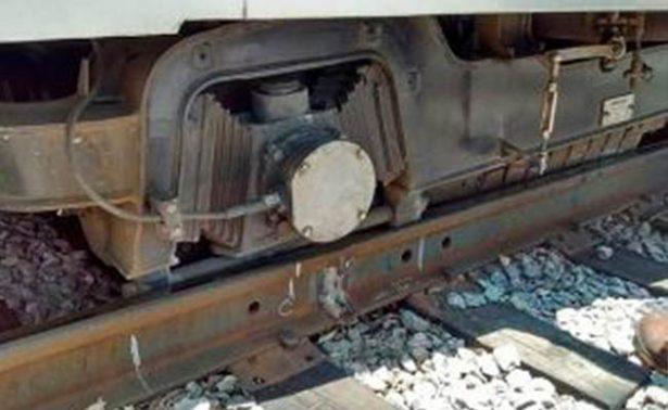 Se descarrila vagón del Tren Ligero en estación Estadio Azteca