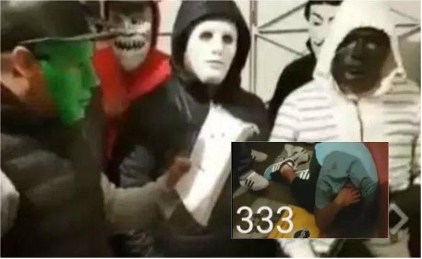 """""""Justicieros"""" exhiben y golpean a presunto ladrón del barrio de Santa Julia"""