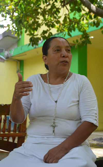 Olga Sánchez ha dedicado su vida a ayudar a los migrantes que sufren lesiones en su viaje. CRÉDITO: DIARIO DEL SUR