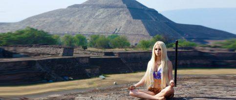 La barbie humana en Teotihuacán