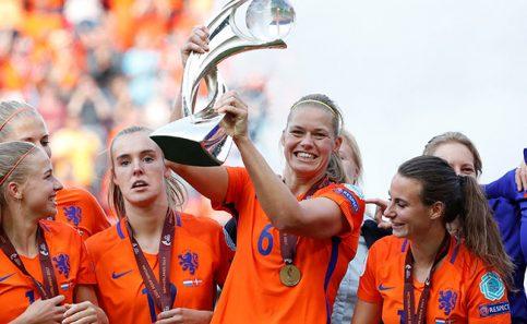 """La """"naranja mecánica"""" femenil es campeona de Europa. Foto: Reuters"""