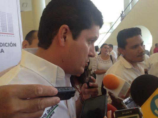 Carlos Gandarilla, dirigente estatal del tricolor Foto Gabriel Xantomila