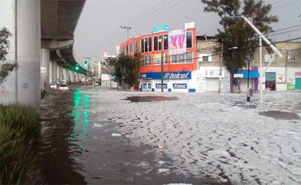 Lluvia y granizo pegan a Tláhuac y Xochimilco; emiten alerta amarilla