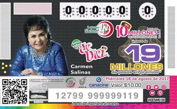 Lotería Nacional rinde tributo a la actriz Carmen Salinas
