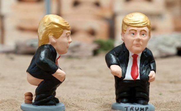 Peculiar pose de Trump en pesebres españoles rompe récord de ventas